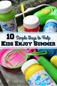 We have become so focused on booking every minute of our summers that we don't take the time to enjoy summer. Check out these 10 Simple Ways to Help Kids Enjoy Summer!
