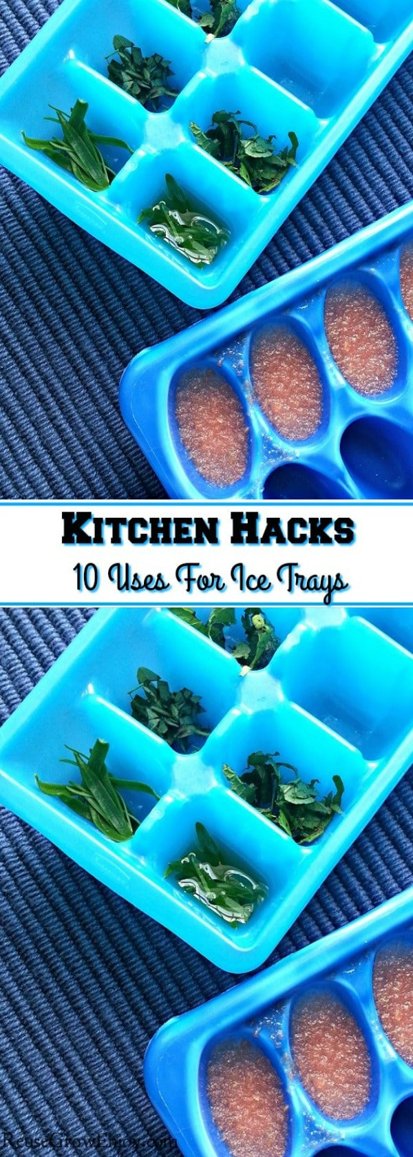 Did you know there are tons of different ways to reuse ice trays other then just ice? I will share some kitchen hacks with you for 10 uses for ice trays!