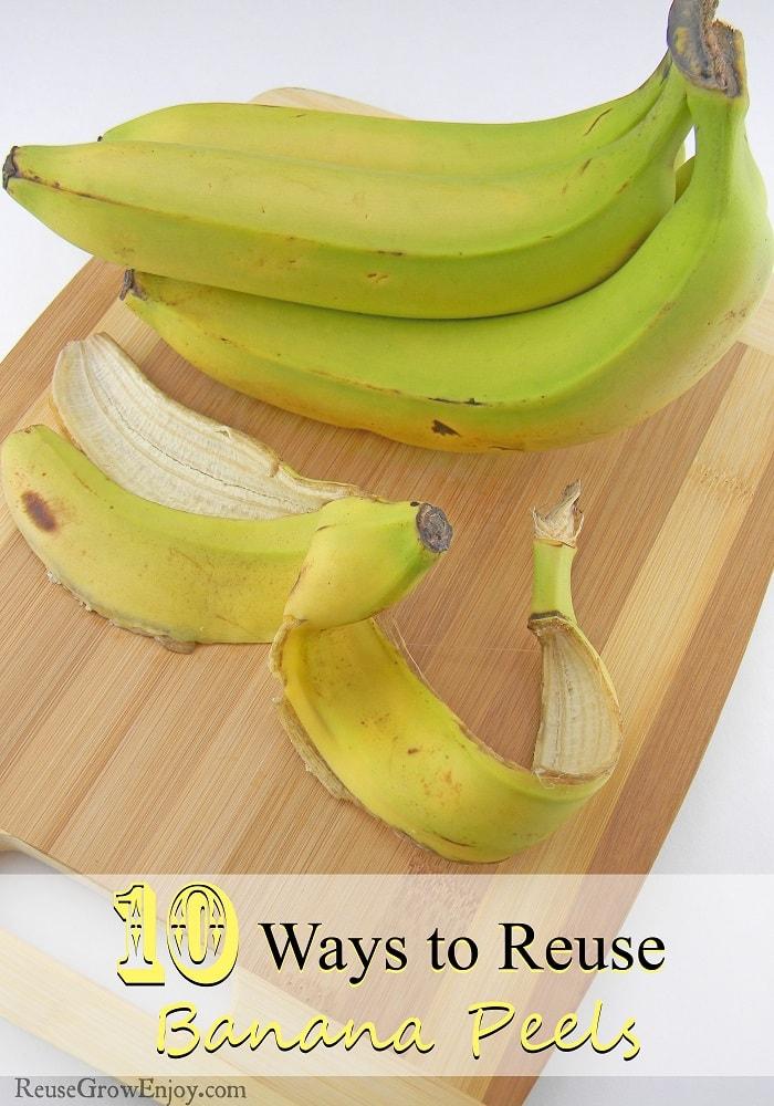 10 Ways to Reuse Banana Peels