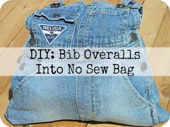 Bib Overalls Reused Into Bag
