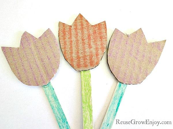 Cardboard Garden Flowers
