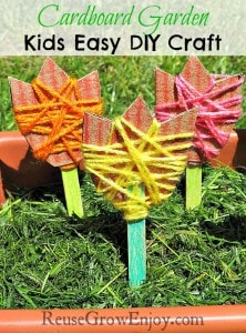 Cardboard Garden Kids Easy DIY Craft