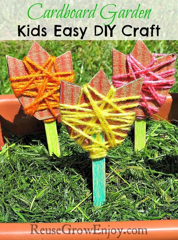 Cardboard Garden Kids Easy DIY Craft
