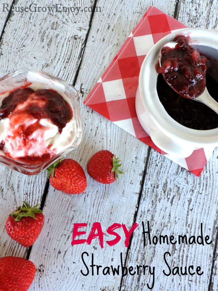 How To Make Homemade Strawberry Sauce