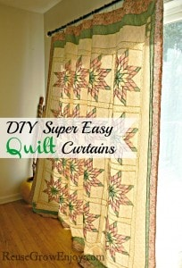 Super Easy Way To Make Quilt Curtains