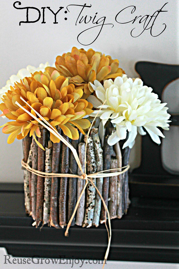 Diy Twig Craft It Is Easy And Pretty