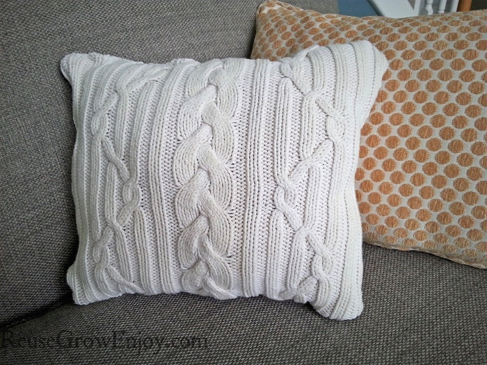 Sweater Pillow Finished