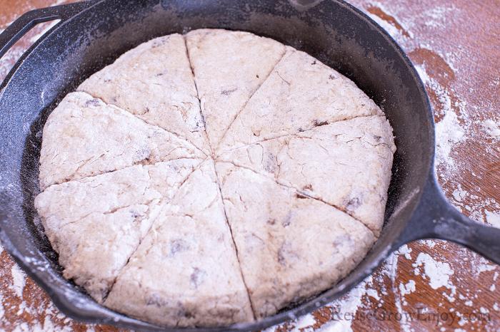Add dough to pan
