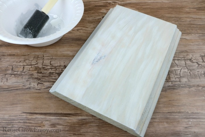 Add streaks of white to wood