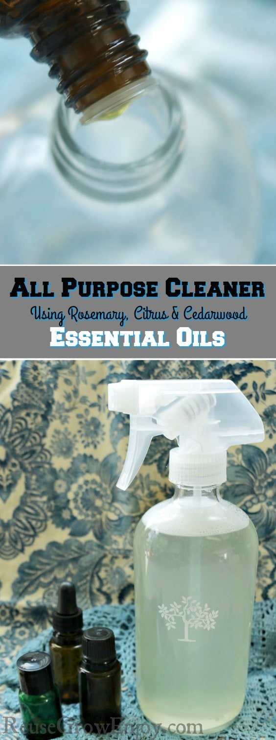 You can clean your home naturally with this easy to make DIY natural essential oil cleaner! Easy to make, smells great and cleans well!