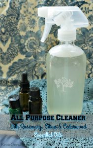 Essential Oil Cleaner – All Purpose Cleaner With Rosemary, Citrus & Cedarwood Essential Oils