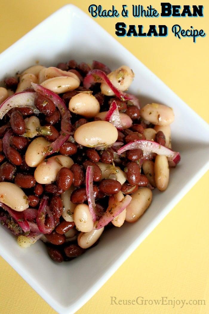 Black and White Bean Salad Recipe Tall