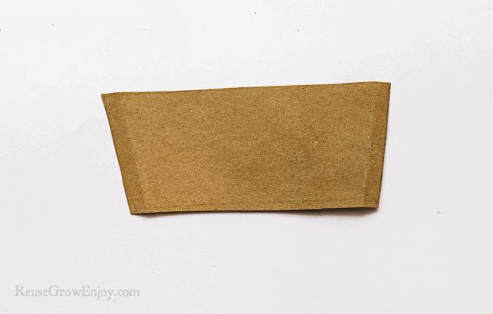 Brown paper cut in shape of flower pot