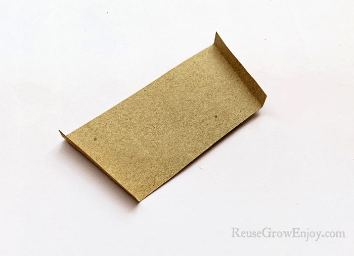 Brown paper edges folded