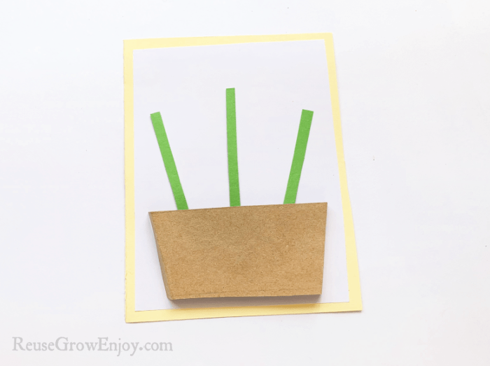 Brown paper over green strips