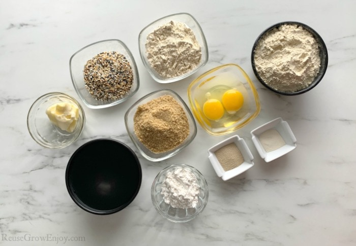 All items needed to make keto buns