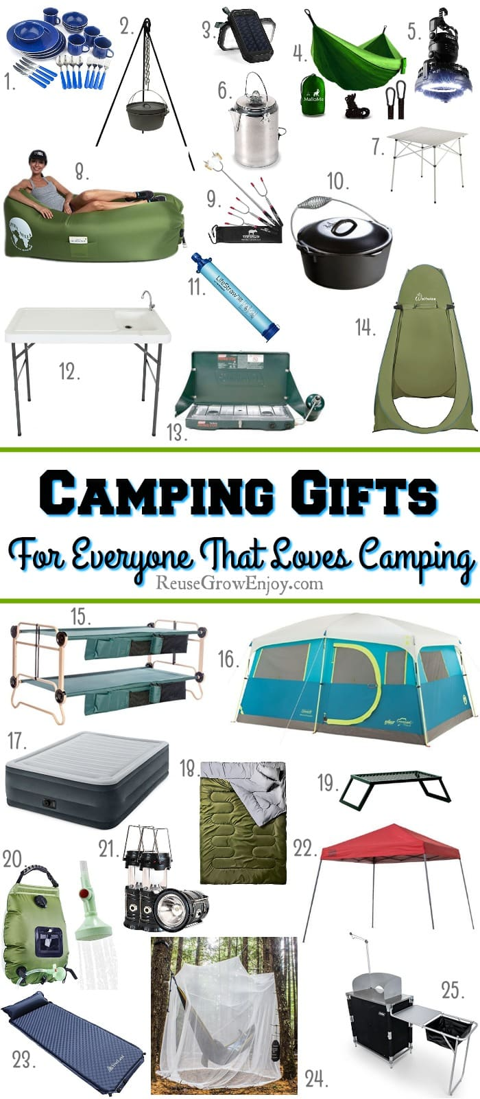 If you are looking for gift ideas for ones who love camping, I got you covered. Check out this list of 25 top camping gifts for everyone that loves camping!