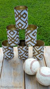 DIY Can Toss With Upcycled Cans