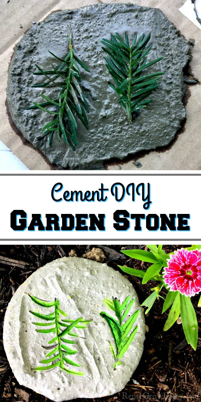 Want to add a garden stone or two to your yard or garden? They can be pricey in the store, but I am going to show you how to make a Cement DIY Garden Stone!