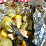 Need a healthy dinner idea? Maybe one that can be cooked at camp? Check out this Chicken And Veggie Foil Pack Hobo Dinner On The Grill!