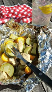 Chicken And Veggie Foil Pack Hobo Dinner On The Grill