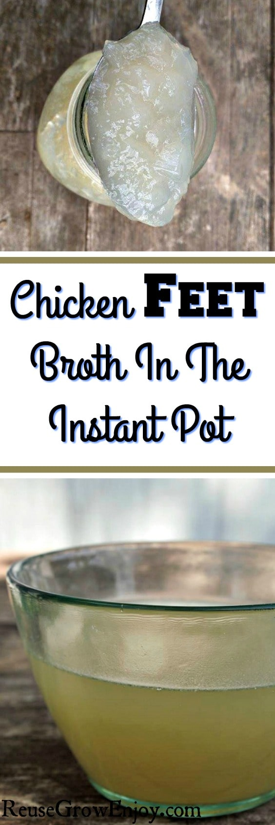 Have you ever had chicken feet broth? It is also known as liquid gold. Check out this recipe for chicken feet broth made in the Instant Pot!