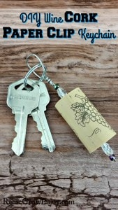 Cork Craft – DIY Wine Cork Paper Clip Keychain