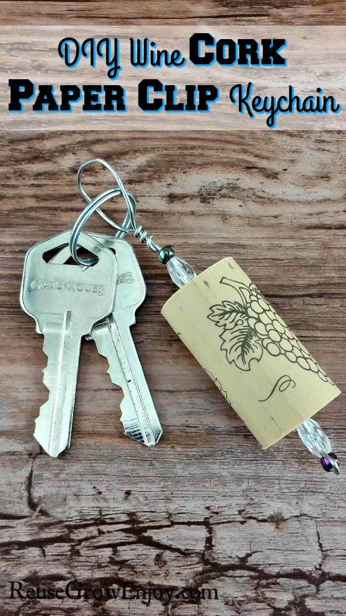 Cork Craft - DIY Wine Cork Keychain