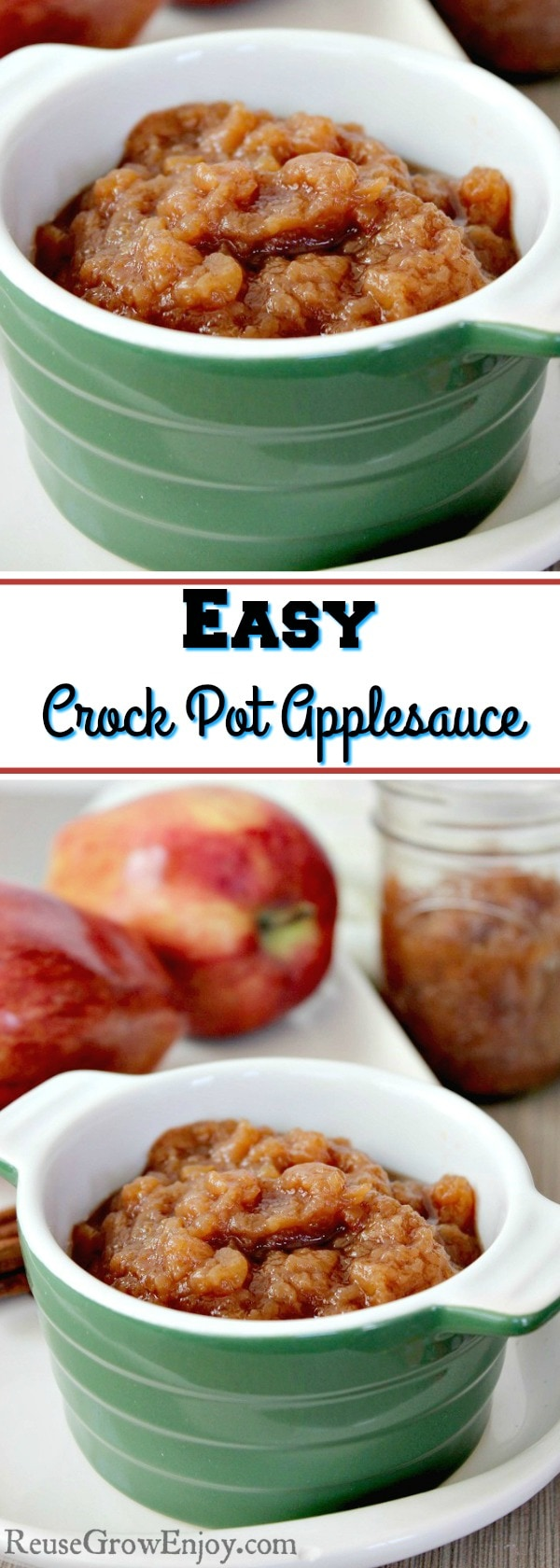Homemade Crock Pot Applesauce is one of those recipes that is a super easy applesauce recipe. After you make it, you will never go back to store bought!