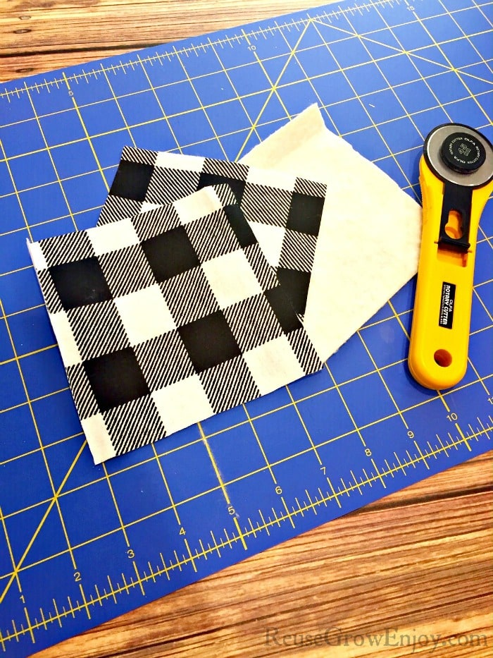 Cut fabric to size