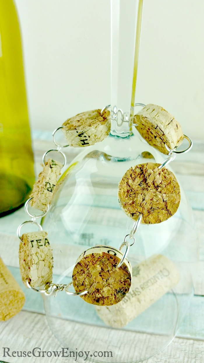 If you like to make your own jewelry, here is a pretty easy one to check out. It is a DIY bracelet made from upcycled wine corks.