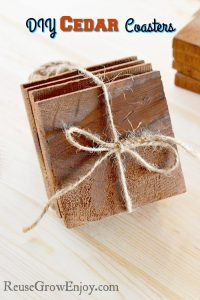 DIY Coasters – Cedar Coasters Made From Solid Cedar