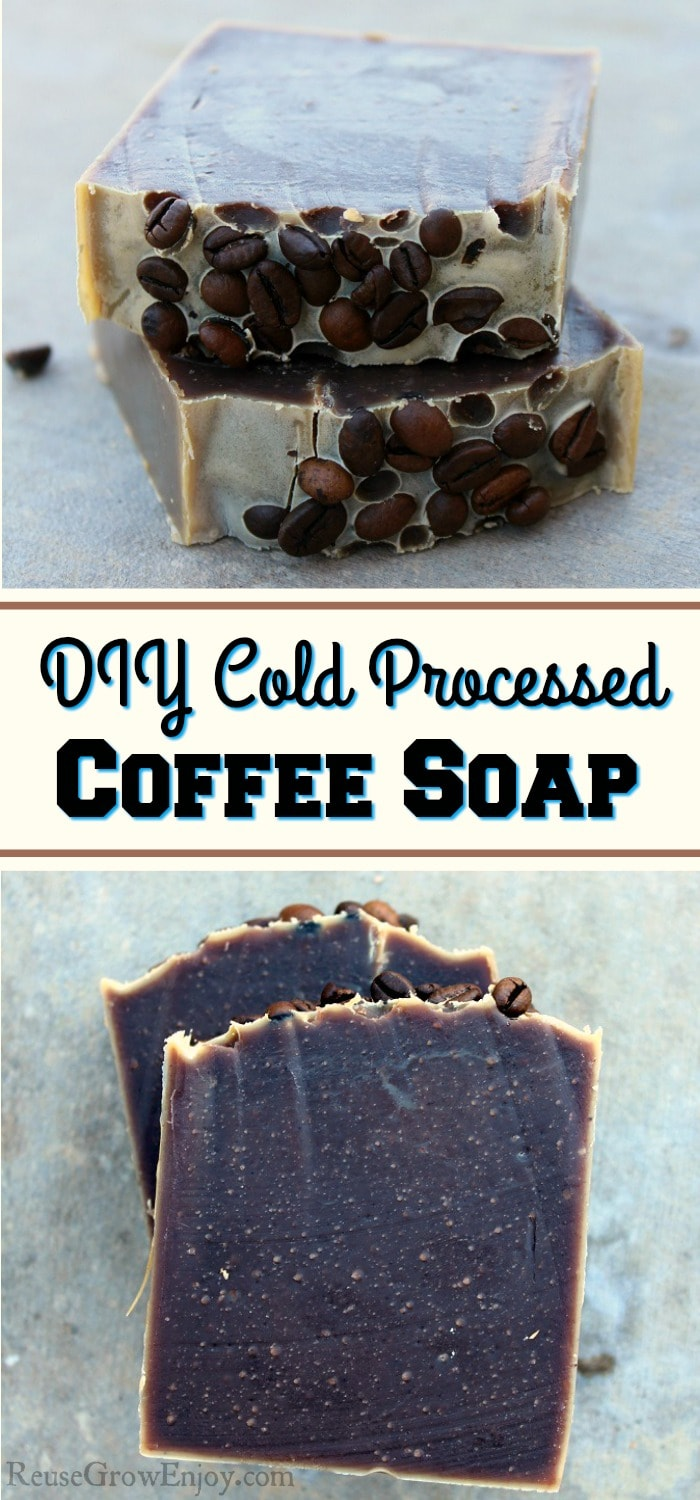 Did you know you can make your own coffee soap right at home? It is a great way to reuse leftover coffee. These also make a great gift idea for any coffee lover!
