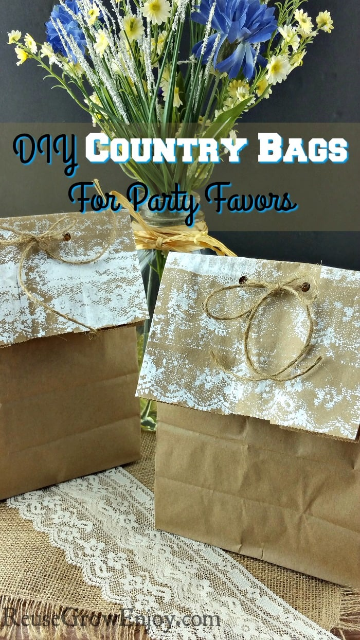 If you have a wedding or party coming up that has a country theme, check out these DIY Country Bags For Party Favors!