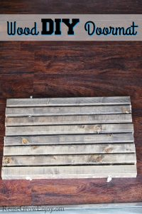 Wood DIY Doormat