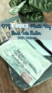 Here is a great way to reuse those plastic bags! You can fuse a plastic bag to make mailers! Easy to do and only takes a few minutes!
