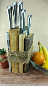 DIY Knife Holder Made From Upcycled Books