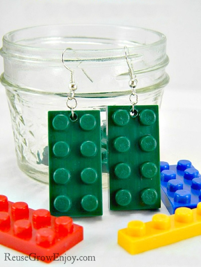 Have some extra Legos kicking around the floor? Check out these cute and easy DIY Lego earrings that are made from upcycled Legos.