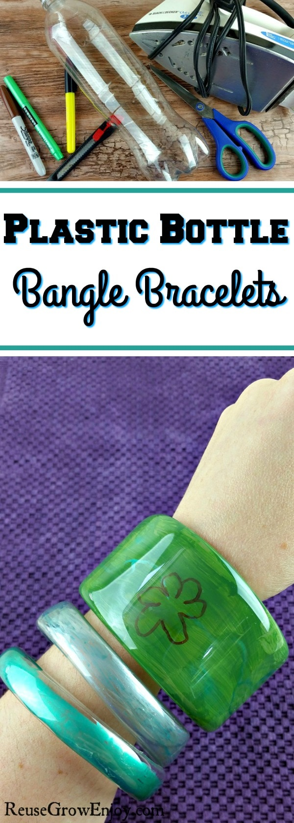 Have some plastic bottles? Check out this cute and easy DIY Plastic Bottle Bangle Bracelets!