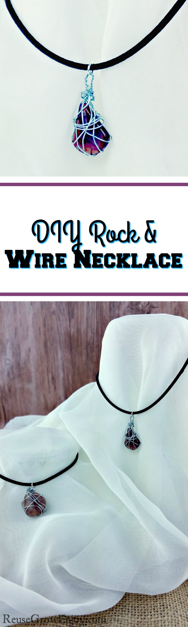 If you like jewelry and are looking for a craft project to do, I have just the thing for you. Check out this DIY Rock & Wire Jewelry Necklace!