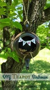 DIY Teapot Birdhouse