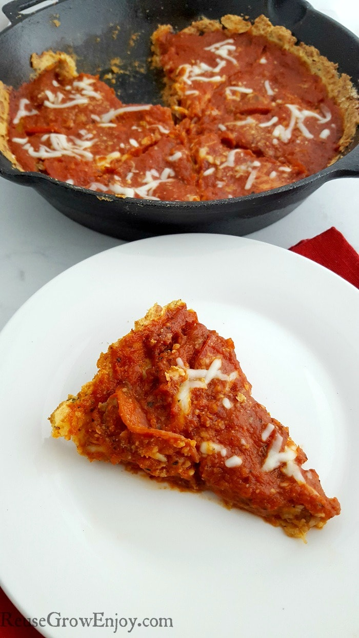 Are you one a Keto diet but missing pizza? Be sure to check out this easy yet tasty Deep Dish Skillet Keto Pizza! This is great for anyone watching carbs.
