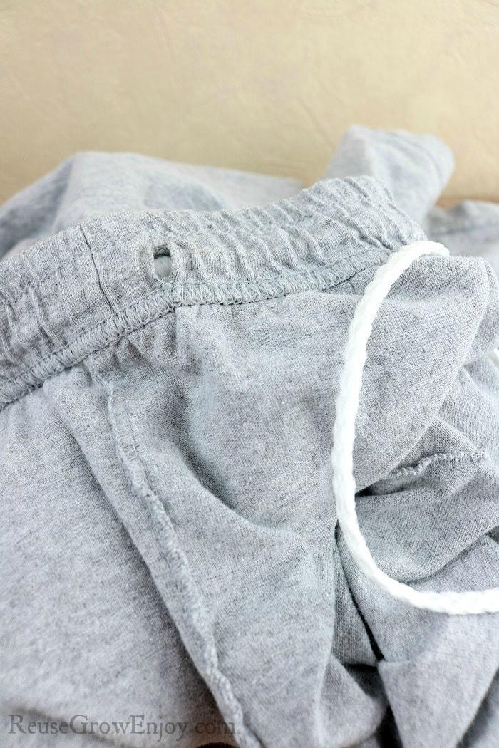 Drawstring Out Of Shorts