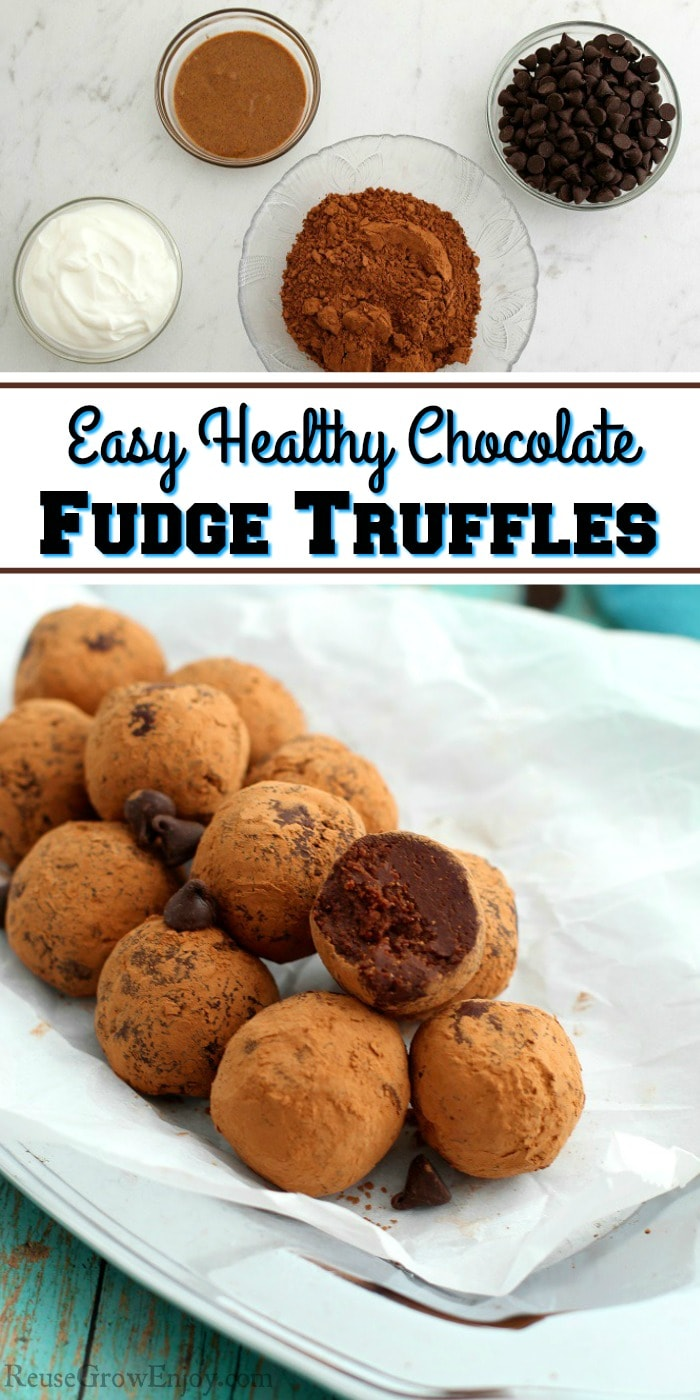 There is nothing more satisfying for a snack than fudge truffles! I am going to show you how to make this easy healthy chocolate fudge truffles recipe.