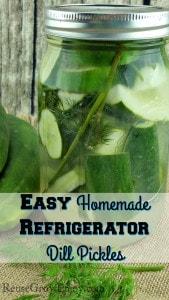 Easy Homemade Refrigerator Dill Pickles