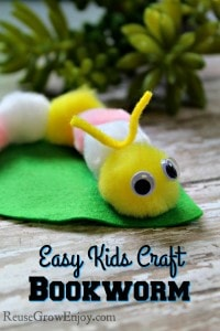 Easy Kids Craft – Bookworm Craft