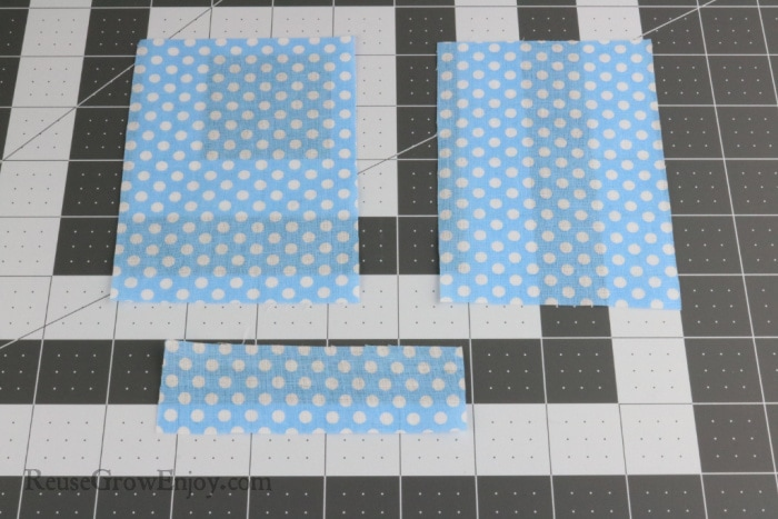 Fabric cut to sizes needed