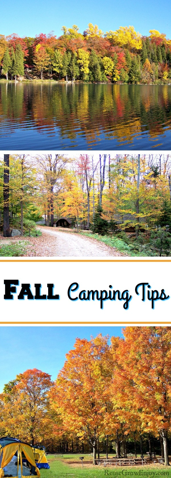 Thinking about taking a fall camping trip? It really is the best time of year to camp! Check out these fall camping tips to be sure you have everything.