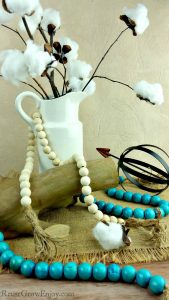 Farmhouse Decor – DIY Wood Farmhouse Beads