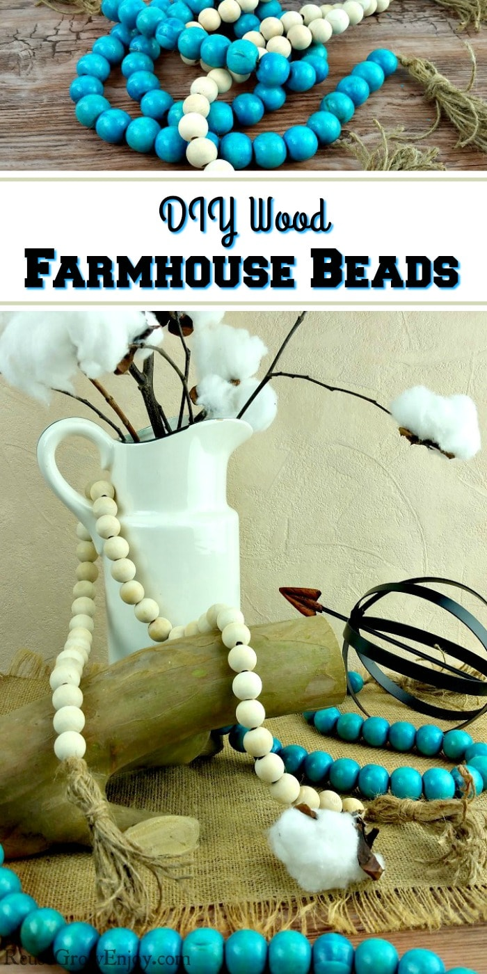 Do you like the look of farmhouse decor? I do too! However it can be pricey to buy sometimes. Check out this Farmhouse Decor - DIY Wood Farmhouse Beads!